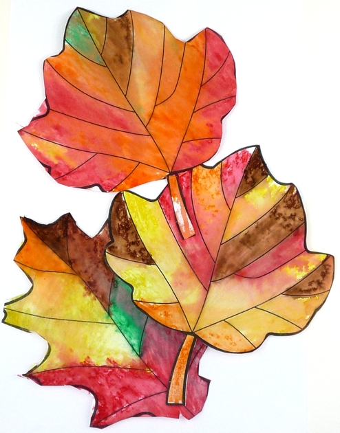 Kindergarten Readines and Art Projects with Fall Leaves