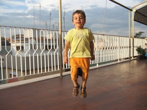 A_child_jumping