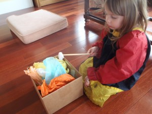 sensory play with paper