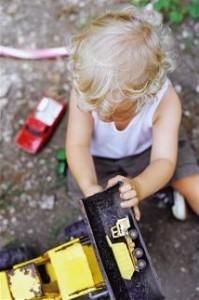 sensory play outside