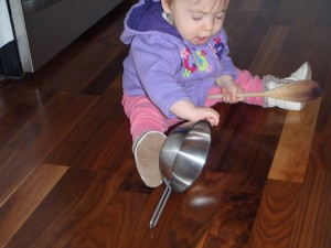 sensory play with pots and pans