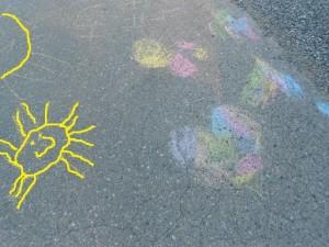 summer fun activities chalk art