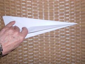 making paper airplanes step 5