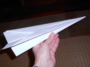 making paper airplanes step 7