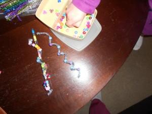 icicle bead Christmas craft for kids