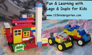 early math concepts with Lego