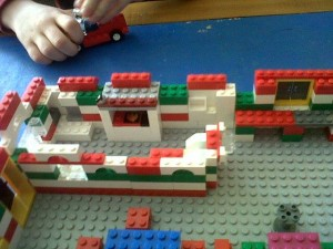 loose parts play with Lego