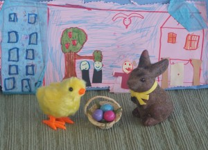 Easter eggs and learning colors