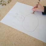 draw an Easter bunny step-by-step