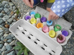 spring, Easter, and nature hunt activity for kids