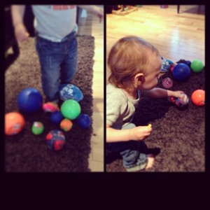 playing with balls for early learning and development