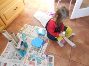 elsa toilet paper roll castle craft