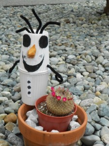 exploring summer with Olaf the snowman