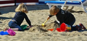 outside play time in the sandbox or beach