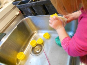 playing at the kitchen sink science