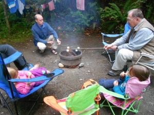 camping fun and learning with kids