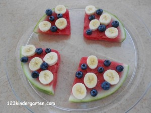 cooking with kids watermelon pizza