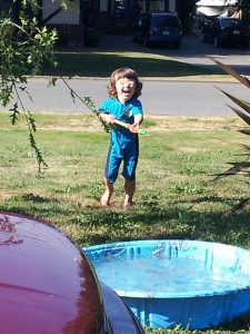 outside summer water play