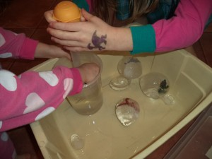 dinosaur ice eggs science fun