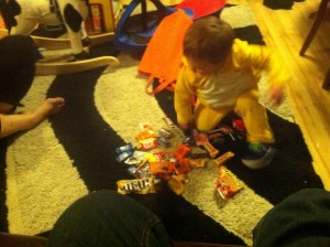 learning activities with Halloween candy