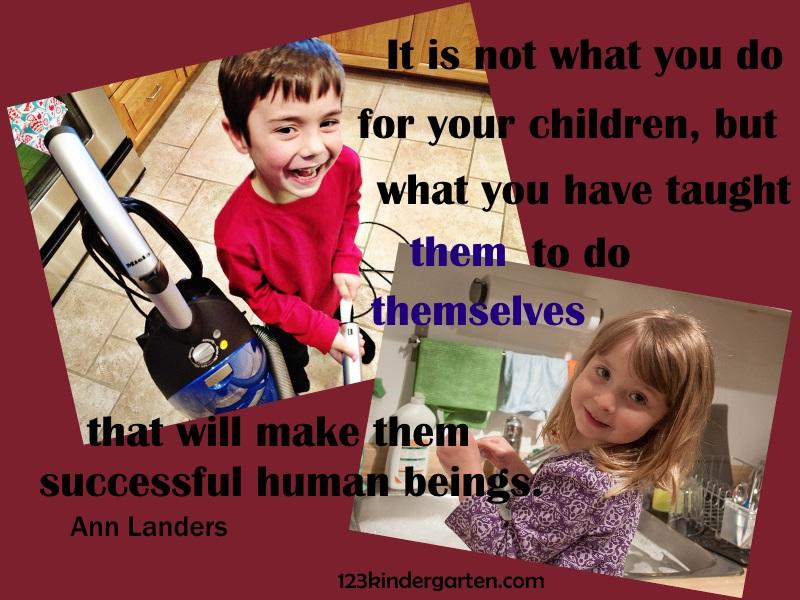 helping children do chores