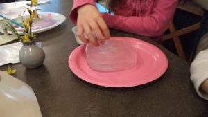 sensory play ice painting