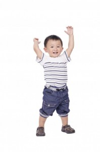 boy dancing pretend play