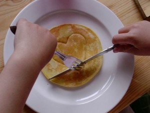 valentine pancake for kids