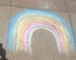 spring chalk rainbow