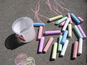 sidewalk chalk drawing