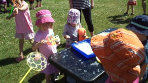 science fun for kids with bubbles