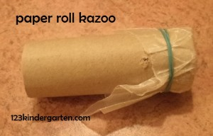 paper roll kazoo