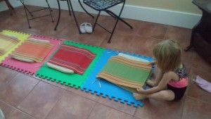 play with color mats