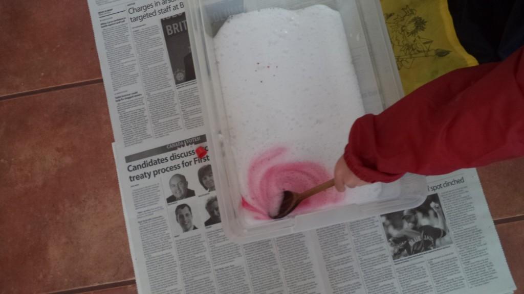 sensory soap play