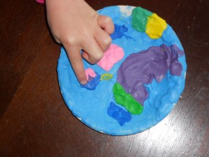 sensory play with play dough