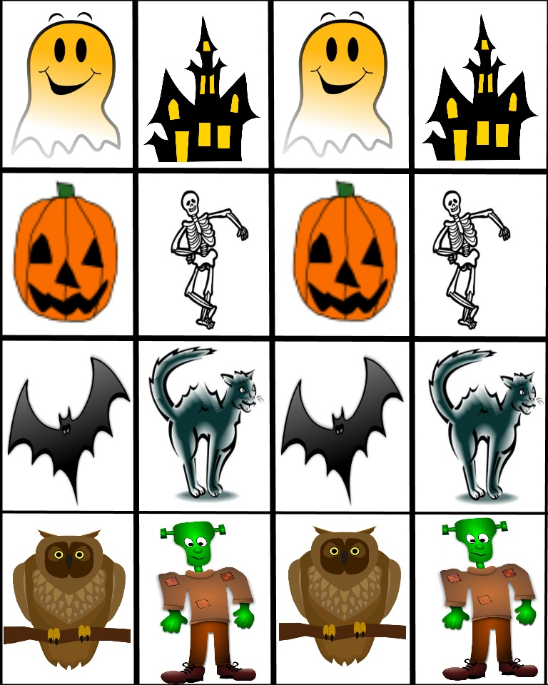 game pairs - Free Online Halloween Games For Kids