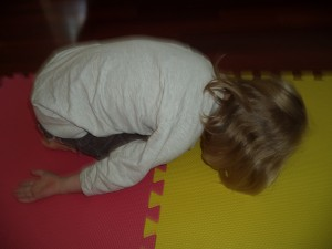 Christmas yoga for kids