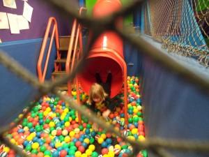 ball pit slide