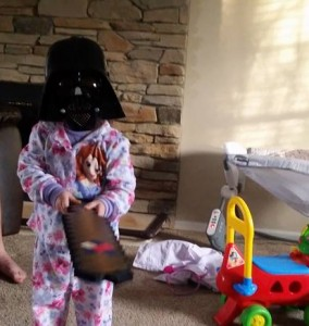 darth vader children's play