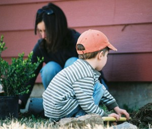 kids can help with yard work