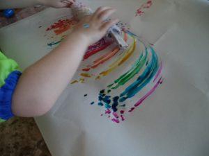 bubble art paint roll