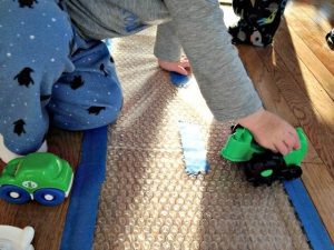 sensory play bubble wrap sunnydayfamily