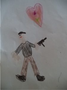 child's drawing soldier