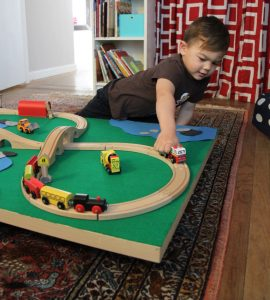 playing with trains fun and learning