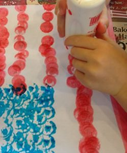 make a flag for July 4th craft