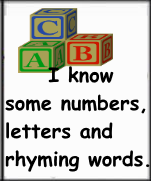 before kindergarten familiarity with numbers letters rhyming words