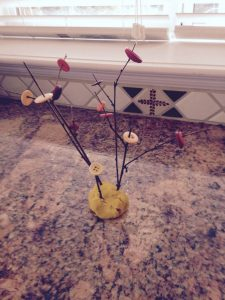 fall twig button bead tree
