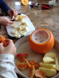 fruit pumpkin dip snack