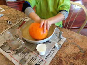 pumpkin volcano science