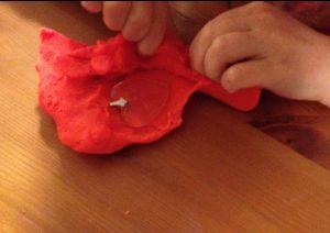 play dough dragon treasure